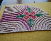 Lavender and Pink Vintage Chenille Bedspread Fabric Soft