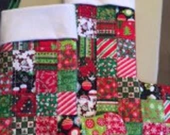 Sale Quilted Patchwork Christmas Stocking