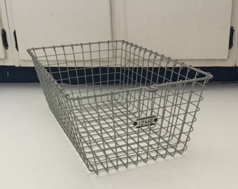 Vintage Locker Basket,Metal Industrial decor,Basket,Gym Locker