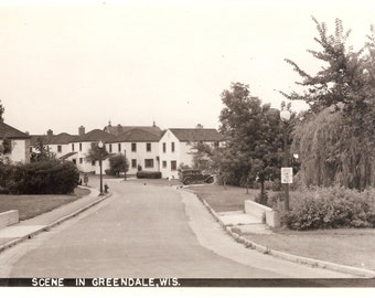 VIntage Photo Postcard...Wisconsin, Scene in Greendale....Unused,  no. 1731