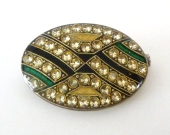 Vintage Pierre Bex Enamel Brooch Pin Art Deco from TreasuresOfGrace