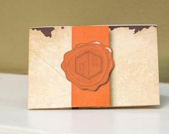Printable Gift Card Holder Wax Seal with Ribbon