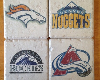 Denver Sports Team Drink Coasters Set of 4