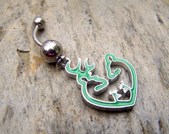Browning Bellybutton Browning Jewelry Body Jewelry Redneck Belly Ring Belly Button Ring Navel Ring