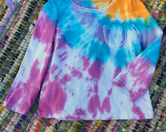 Berry Orange Tie Dye Long Sleeve 24 months