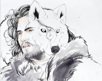 Game of Thrones: Starks and Dire Wolves Poster Set