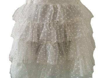 Handmade Lolita Tiered Spot Net Skirt