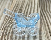 12 - Blue Acrylic Stand Up Buggy/Carriage Favors - Baby Boy - Games/Gift Tags/Table Scatter/Decorations/Favors/ - Baby Shower