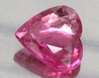 0.97 Ct Natural Rubellite Tourmaline Pink  Africa Unheated Heart