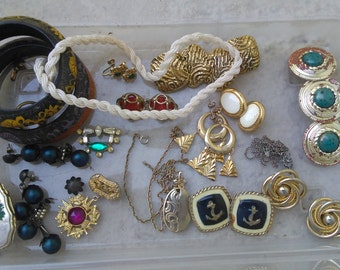 Destash of Old Costume Jewelry to Upcycle/Restore
