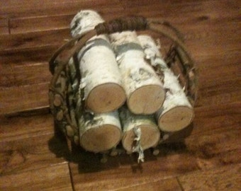 Romantic Holiday Birch Logs. White Paper Birch - 32 bucks includes ahipping!
