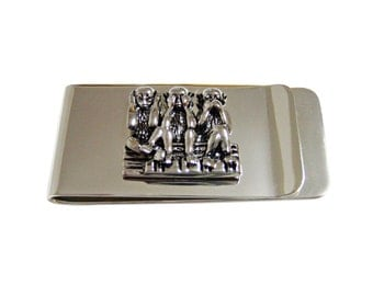 Three Wise Monkeys Money Clip