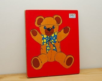 Teddy Bear jigsaw puzzle by Galt Toys, wooden childs game