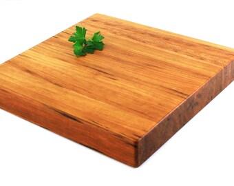 "Butcher Block Cutting Board - Edge Grain -Thick Chopping Board - Cherry Wood - 12""x12""x1-3/4"" - Ready to Ship"