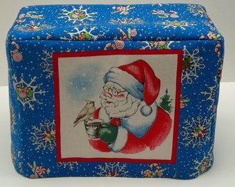 Santa Claus Toaster Cover, Christmas Toaster Cover, Two Slice Toaster Cover, Holiday Toaster Cover