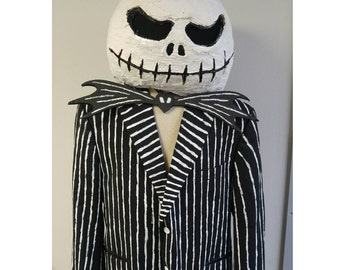 Upcycled Steampunk Clothing, Jack Skellington Costume, Nightmare Before Christmas - Tim Burton, Headpiece, Jacket and Pants, Bow Tie, Gloves