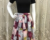 Amazing 1950's novelty Moulin Rouge print skirt