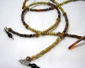 Gold and Brown Sunglasses Lanyard, Eyeglass Necklace Chain