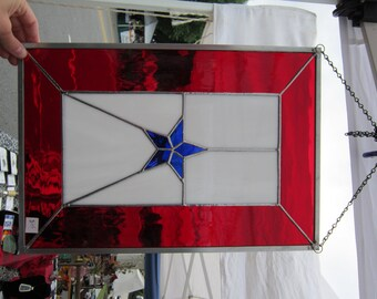 BLUE STAR SERVlCE FLAG - stained glass