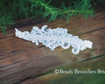 Rustic Wedding Garter, Lace Wedding Garter, Bridal Garter, Ivory Garter, Wedding Garter, Vintage Garter, White Wedding Garter,Boho Wedding