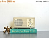 ON SALE White Mid-Century Radio | Vintage AM Radio | Modern Home Decor