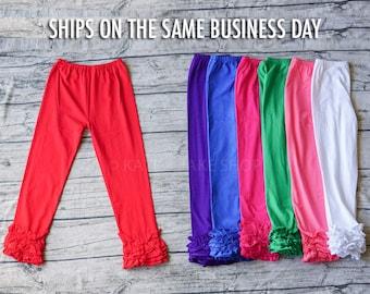 SALE!  Girls Ruffle Pants  Girls Leggings Girls Ruffle Pants - girls ruffle leggings Toddler Leggings Triple Ruffle Pants