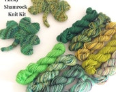 St Patrick's Day Knit Kit - Mini skeins and pattern