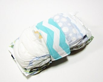 Chevron Diaper Strap - Spa White Sassir Chevron