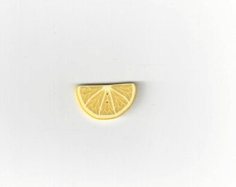 Clearance -Half Lemon Slice #2254 from Just Another Button Co.