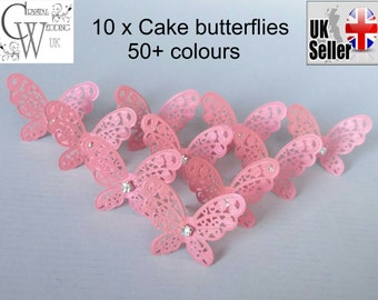10x Butterfly  cake  decorations topper