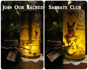 SACRED SABBATS CLUB: Parchment, altar, ritual, apothecary, Sabbats, Yule, Ostara, Litha, Imbolc, Samhain, Mabon, Lughnasadh, Beltane