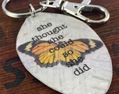 She Thought She Could So She Did Keychain, Spoon Accessory, Inspirational Gift, Inspiring Jewelry