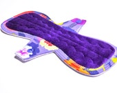 "10"" with Tabs OBV or Minky Mama Cloth Pad / Menstrual Pad / Incontinence Pad - Customize Your Flow Level, Fabrics and Backing"