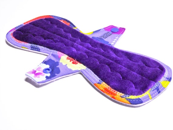 """10"""" with Tabs OBV or Minky Mama Cloth Pad / Menstrual Pad / Incontinence Pad - Customize Your Flow Level, Fabrics and Backing"""