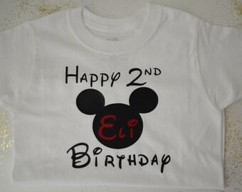Custom mickey mouse birthday shirt