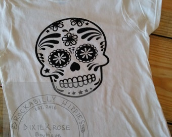 Sugar Skull Women's Short Sleeve Tee/Women's t-shirt