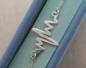 Heart Beat Necklace, Gift for Doctor, EKG Rhythm, Nurse Necklace, Gift for Paramedic EMT, Medical Gift, Christmas Gift
