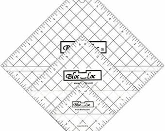 In stock-Bloc Loc Half Square Triangle Ruler 2.5, 4.5, 6.5 Set 2