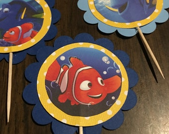 Findind Nemo and Dory cup cake toppers