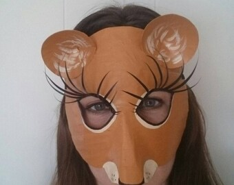 Female lion mask, lioness mask