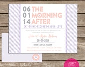 The Morning After Post Wedding Breakfast/Brunch Invitation  -  Lovely Little Party