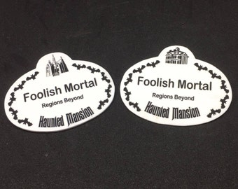 Haunted Mansion Themed Name Badge