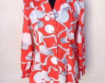 Vintage mod Blouse or light jacket by Barnaby sz M