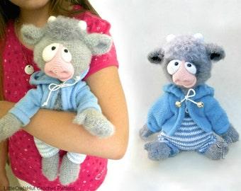 117  Crochet Pattern - Baby Goat and Baby Bull - PDF file Amigurumi by Astashova Etsy