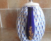 Lomonosov Cobalt  Blue net  Russia coffee pot
