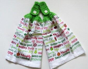 Better Be Good Crochet Top Kitchen Hand Towel Set of 2