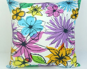 Floral Frenzy Cushion - Vicki Evans Design