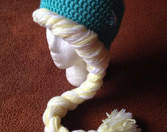 Ice Princess Elsa Crochet Hat