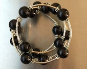 Black Pearl Wrap Bracelet