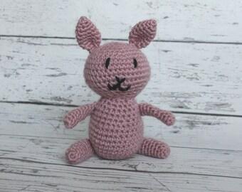 Crochet Bunny Stuffed Animal, Plush Animal, Rabbit Stuffed Toy, Ready To Ship